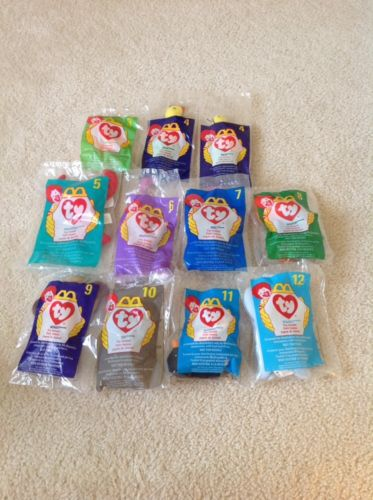 Mixed Lot of 11 ~ 1998 Ty McDonald's  Beanie Babies 1998  ~ NIP