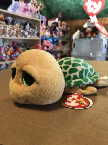 Ty POKEY -Yellow/Green Sea Turtle Beanie Boo! *Retired* RARE VHTF!