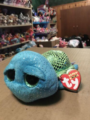 Ty CARA -Turquoise/Lime Loggerhead Sea Turtle! *SeaWorld Exclusive* RARE &VHTF!!