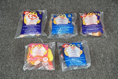 Set Of 5 Mcdonalds Ty Beanie Babies In Packages