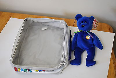 NWT TY Beanie Babies Official Club Bag with Clubby  - Retired  07-07-1998