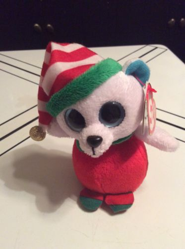 """Ty Baby Beanie ICECAPS the Polar Bear 4"""" Walgreens Exclusive Holiday Christmas"""
