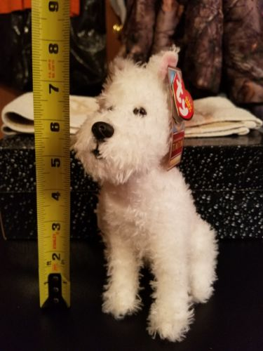 Ty Beanie Baby  SNOWY the Dog (The Adventures of TinTin) (8.5 inch)  retired