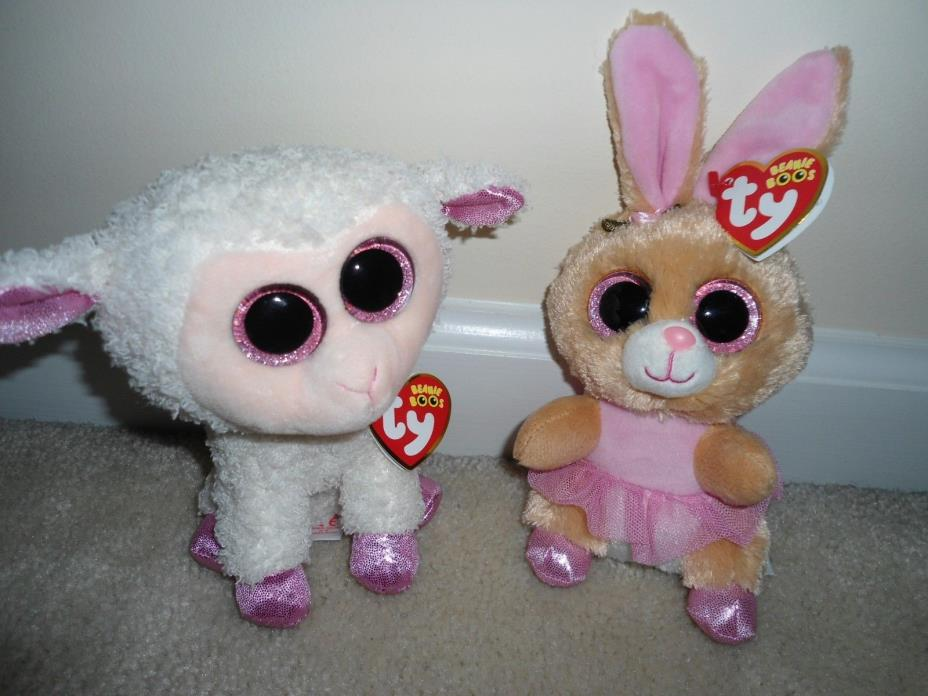 Ty,Twinkle and Twinkle Toes, Easter Bunny & Lamb Set.Popular 2014&2016 Releases