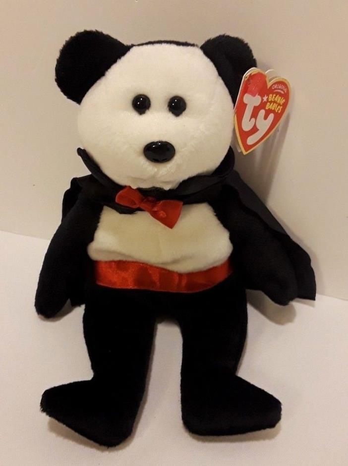 Ty Beanie Baby Baron Van Pyre -NWMT Bear Halloween