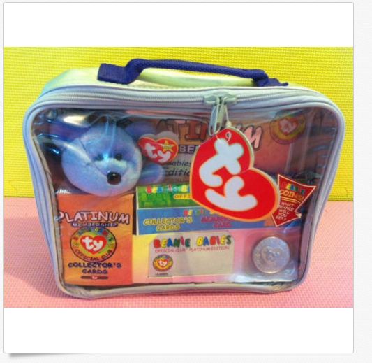 TY Beanie Baby Official Platinum Membership Club Bag colletors stuffed animal