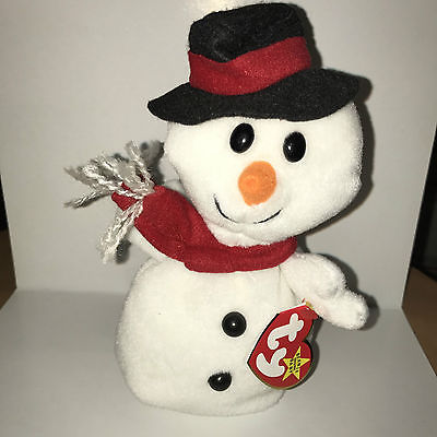 Ty Beanie Baby Snowball the Snowman, December 22 , 1996, PVC, errors, Style 4201