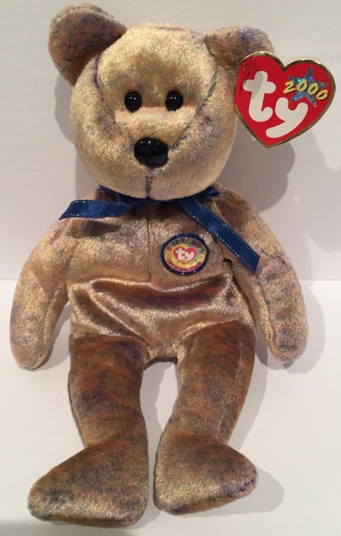 TY Beanie Baby Babies RETIRED 2000 CLUBBY III 3 Bear Stuffed Plush Toy