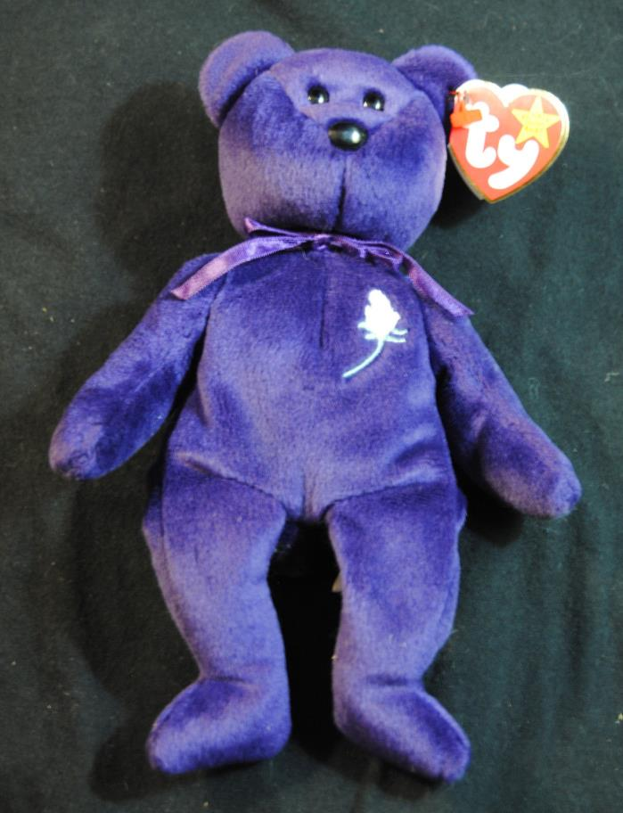 Beanie Babies Princess Bear 1997 PE Pellets No Tush Tag Inside Stamp