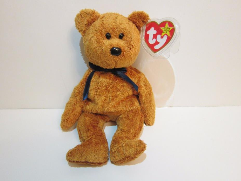 Ty Beanie Baby Fuzz Bear With Tag Protected, Canadian Edition