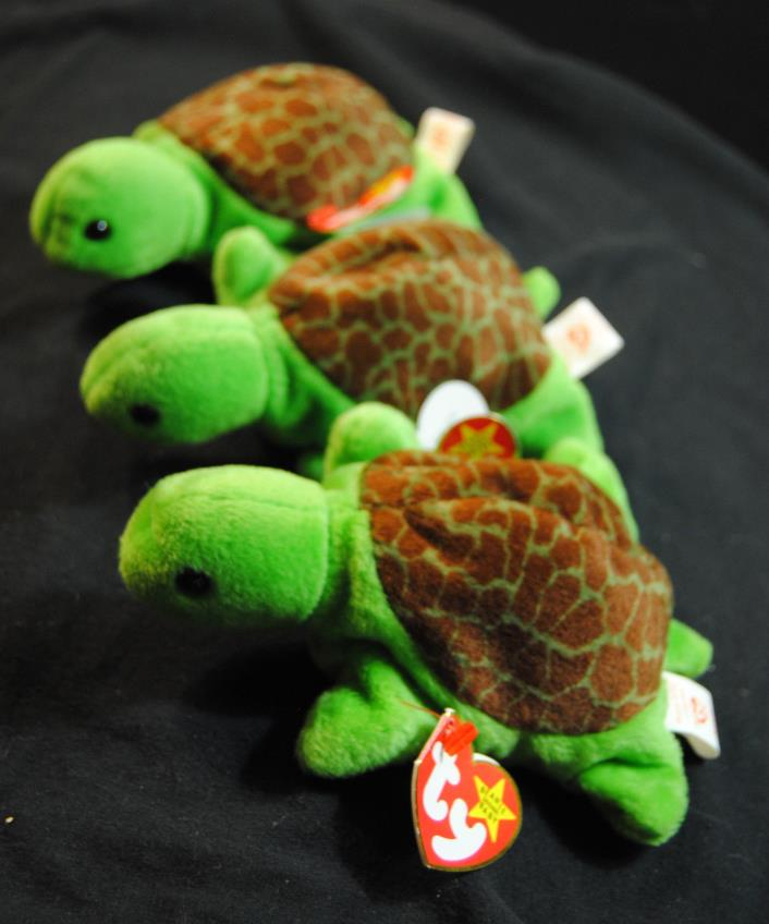 Beanie Babies Speedy the Turtle Lot of 3