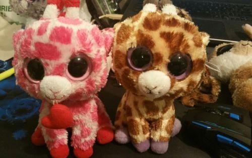 Ty-Beanie Boos-6in Safari and Junglelove-the Giraffes