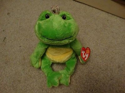 TY Charm Frog Prince Stuffed Animal
