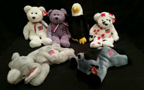 American Ty Beanie Buddy 6pc Collection Political Americana