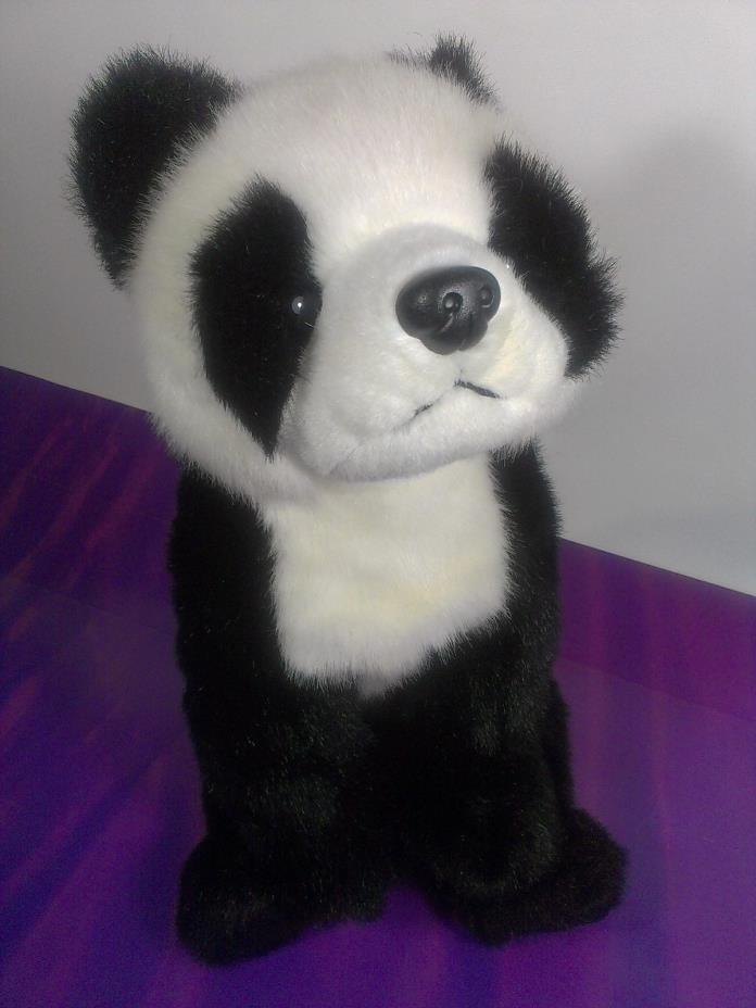 Ty Buddy PANDA BEAR Plush Black White Stuffed Animal 1999 Beanie Buddies 15