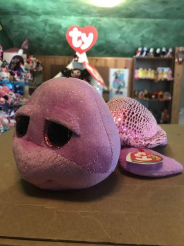 Ty SLOWPOKE -Purple/Shiny Pink Turtle 9