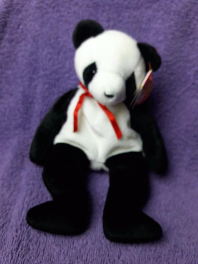 Vintage Fortune panda ty beanie baby 1997 RETIRED B831