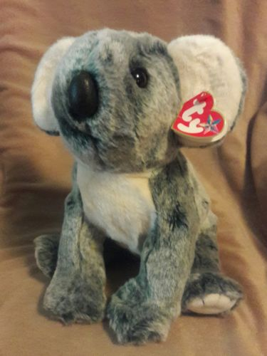TY BEANIE BUDDIES COLLECTION gray white EUCALYPTUS THE KOALA BEAR 12