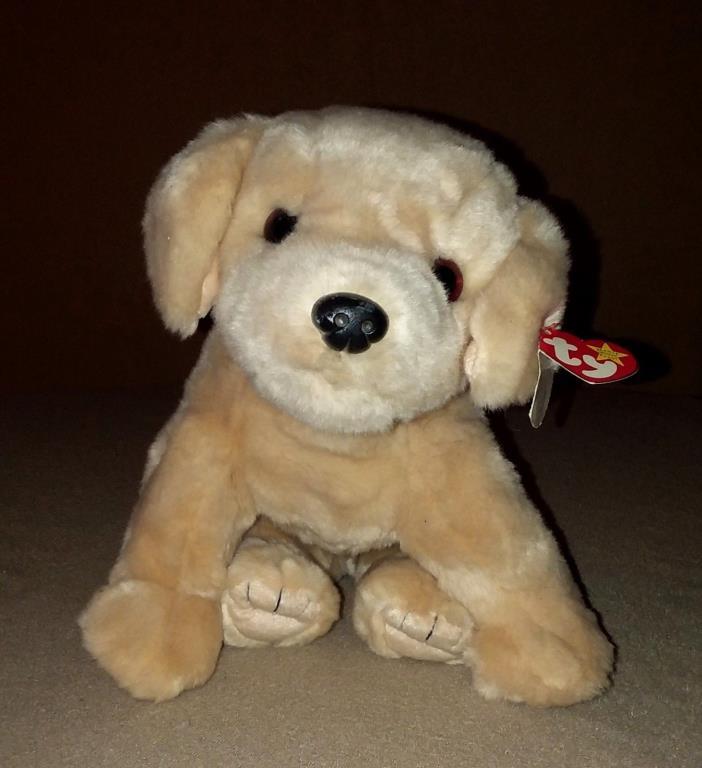 Ty Fetch Yellow Lab Labrador Puppy Dog Beanie Buddies 12