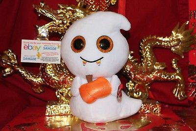 Ty BEANIE BOOS SCREAM THE BUDDY WHITE GHOST-9
