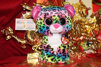 TY BEANIE BOOS DOTTY THE LEOPARD-MEDIUM BUDDY-9