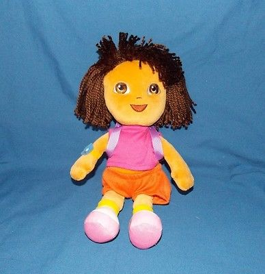 Ty Dora the Explorer Beanie Buddies Buddy Doll stuffed plush 10