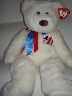 NWMT Rare TY Libearty Bear Beanie Buddy Large 22