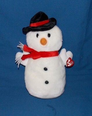 Ty Beanie Buddy Buddies SNOWBALL Snowman stuffed Plush with tags 2001