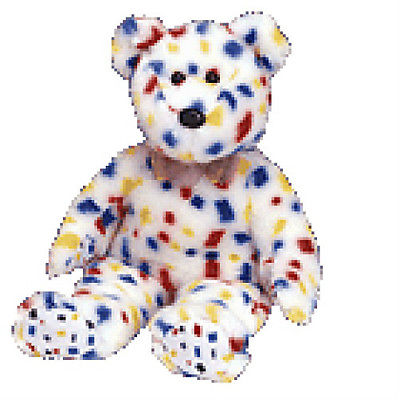 T2K New MWMT TY Beanie Buddy Confetti Bear Collectors Quality