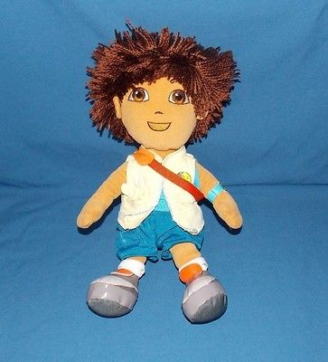 2011 TY Dora the Explorer DIEGO boy Beanie Buddies stuffed plush doll 12