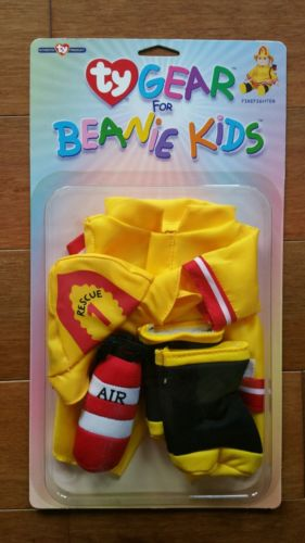 NEW NIP Ty Gear for Beanie Kids Doll Clothes Outfit Set Fireman - Firefighter