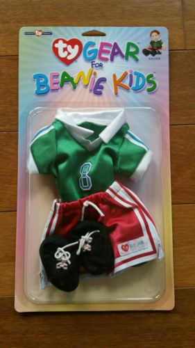 NEW NIP Ty Gear for Beanie Kids Doll Clothes Outfit Set - Soccer