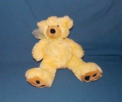 Ty Classic Plush Yellow Teddy Bear 2006 Plush Animal Stuffed 12