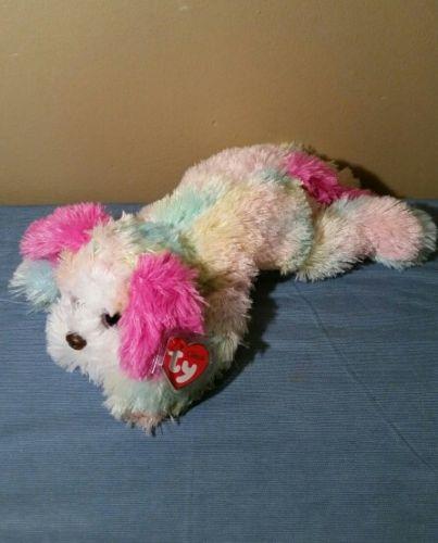 Ty Classic Plush YODELER Pastel St Bernard Dog Glitter Eyes NWT 14