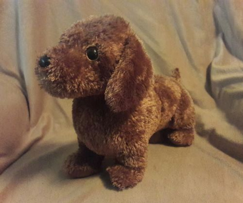 TY CLASSIC brown FRANK the DACHSCUND WEINER PUPPY DOG  Beanie Stuffed Plush 13