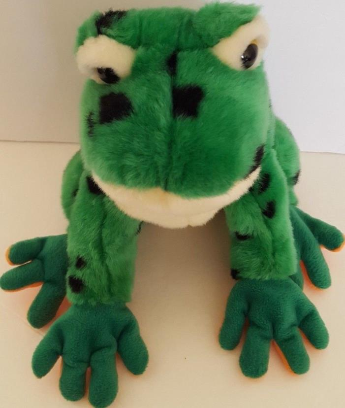 2004 Ty Classic Lilypad Green Spotted Plush Frog 10