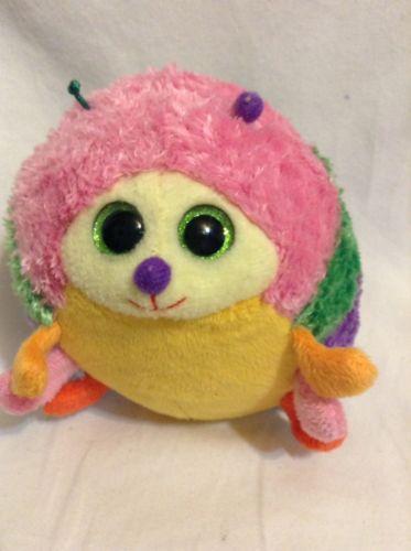Ty Beanie baby boo bean plush stuffed animal Gumdrop ballz toy rare purple tag