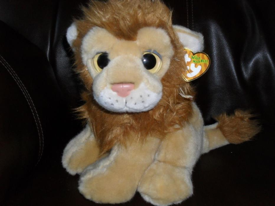 TY Classic Plush - Wild Wild Best - Kingston Lion (10 inch) - MWMTs