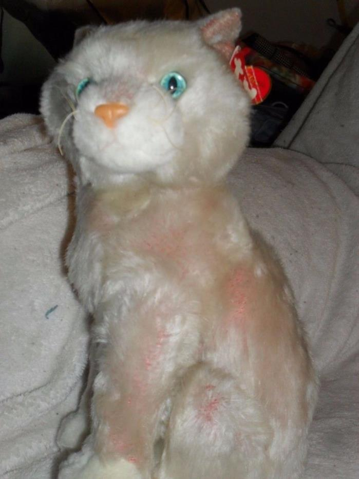 TY Cat Kitten Plush toy BLOSSOM Large Blue Eyes Pink Soft CLASSIC 12