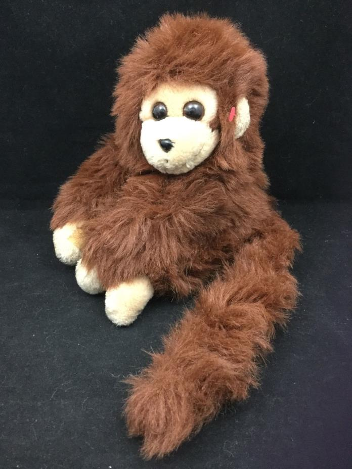 Ty Mischief Monkey Chimp Brown Tan Vintage 1987 Plush 7