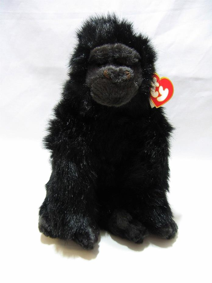 Ty Classic George Gorilla Ape Plush Stuffed Animal 7301 Korea Black Monkey 1989
