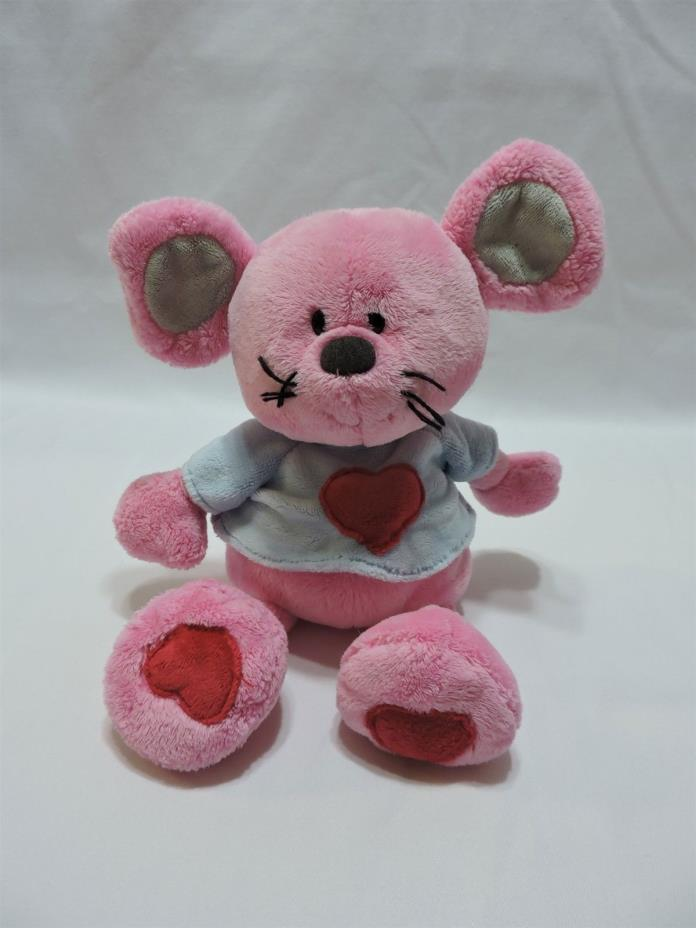Ty Classic Mouse Patter Pink Gray Red Heart Plush Stuffed Animal Pluffies Toy