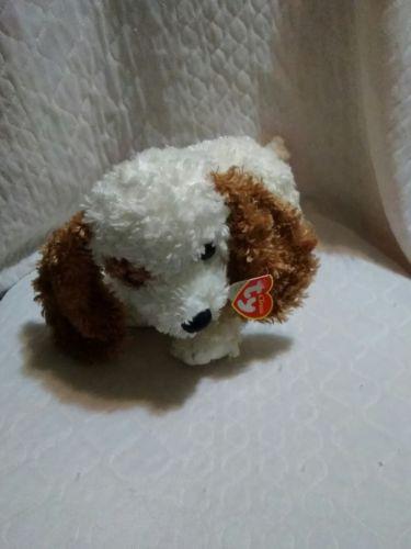 2002 TY CLASSIC BROWN & CREME BEASLEY PUPPY DOG PLUSH BEANIE BABY 10