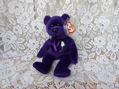 VERY RARE 1st EDITION ~ PRINCESS Diana Bear 1997 Ty Beanie Baby PVC MINT + Case