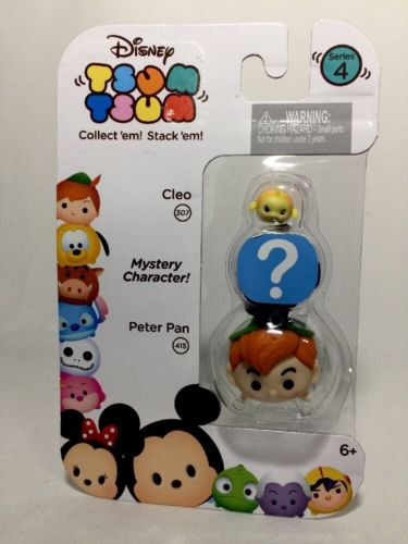 Disney Tsum Tsum Series 4 Cleo, Mystery Character, Peter Pan