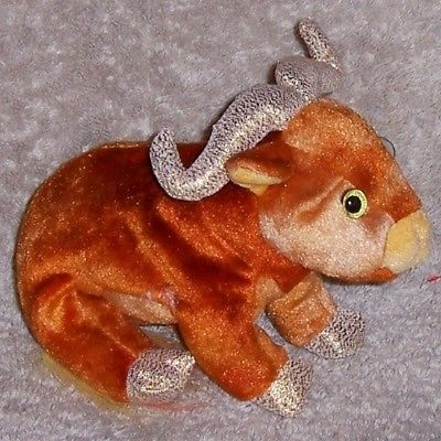 ZODIAC OX  Ty Beanie Baby MINT WITH MINT TAGS