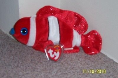 LIPS ARUBA JESTER POSEIDON PROPELLER SCHOOL OF FISH TY BEANIE BABIES MINT TAGS