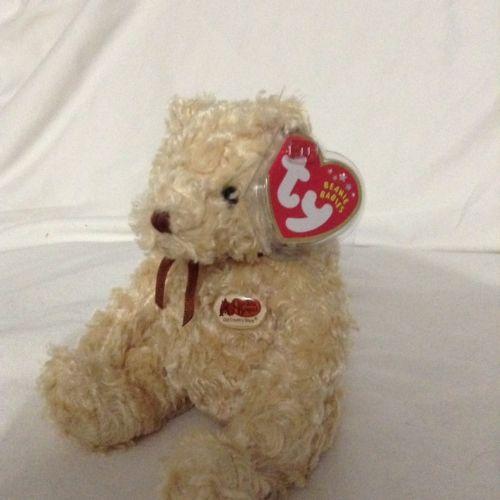 TY Beanie Baby HERSCHEL Bear Cracker Barrel plush bean bag stuffed animal toy