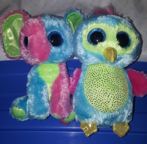 TY Beanie Boos Justice Exclusives Opal & Elfie Tush tags only
