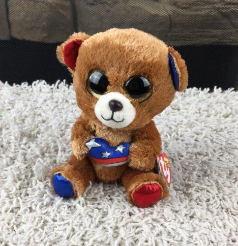 NEW Ty Beanie Boos Stars Patriot Bear 6